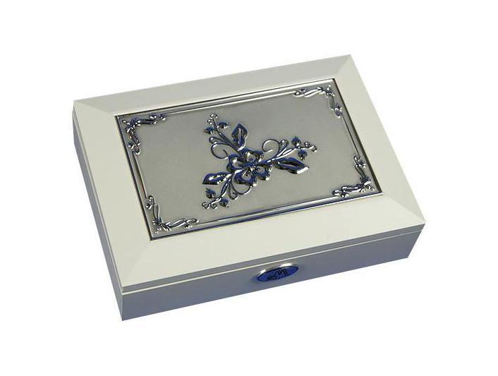 Шкатулка ювелирная Moretto, цвет: белый, 18 см х 13 см х 5 см. 39875