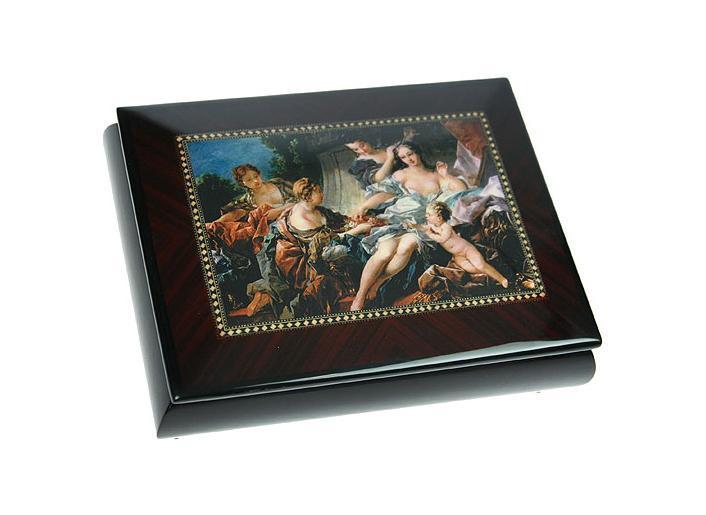 """Шкатулка ювелирная """"Mercante"""", цвет: темно-коричневый, 21 см х 16 см х 6 см. 36153, Русские Подарки"""