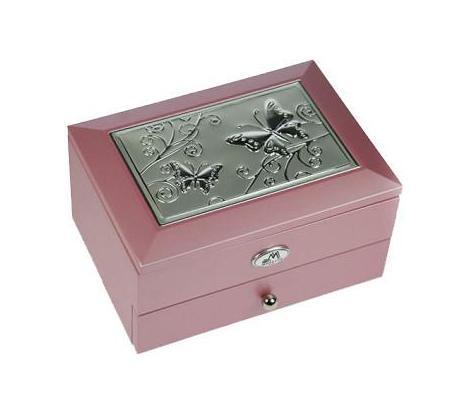 Шкатулка ювелирная 2-х ярусная Moretto, цвет: розовый, 18 х 13 х 10 см 39927 статуэтка русские подарки африканка 14 х 15 х 22 см