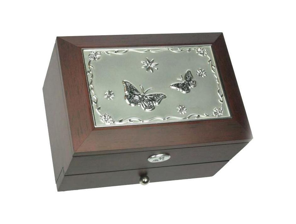 Шкатулка для украшений Moretto, двухъярусная. 3958339583Двухъярусная стильная шкатулка Moretto, изготовленная из качественных материалов, свнутренней стороны дополнена зеркалом. Шкатулка сохранит ваши ювелирные изделия впервозданном виде.Модель станет оригинальным и стильным подарком. Размер шкатулки: 17,5 x 8,5 x 12,5 см.