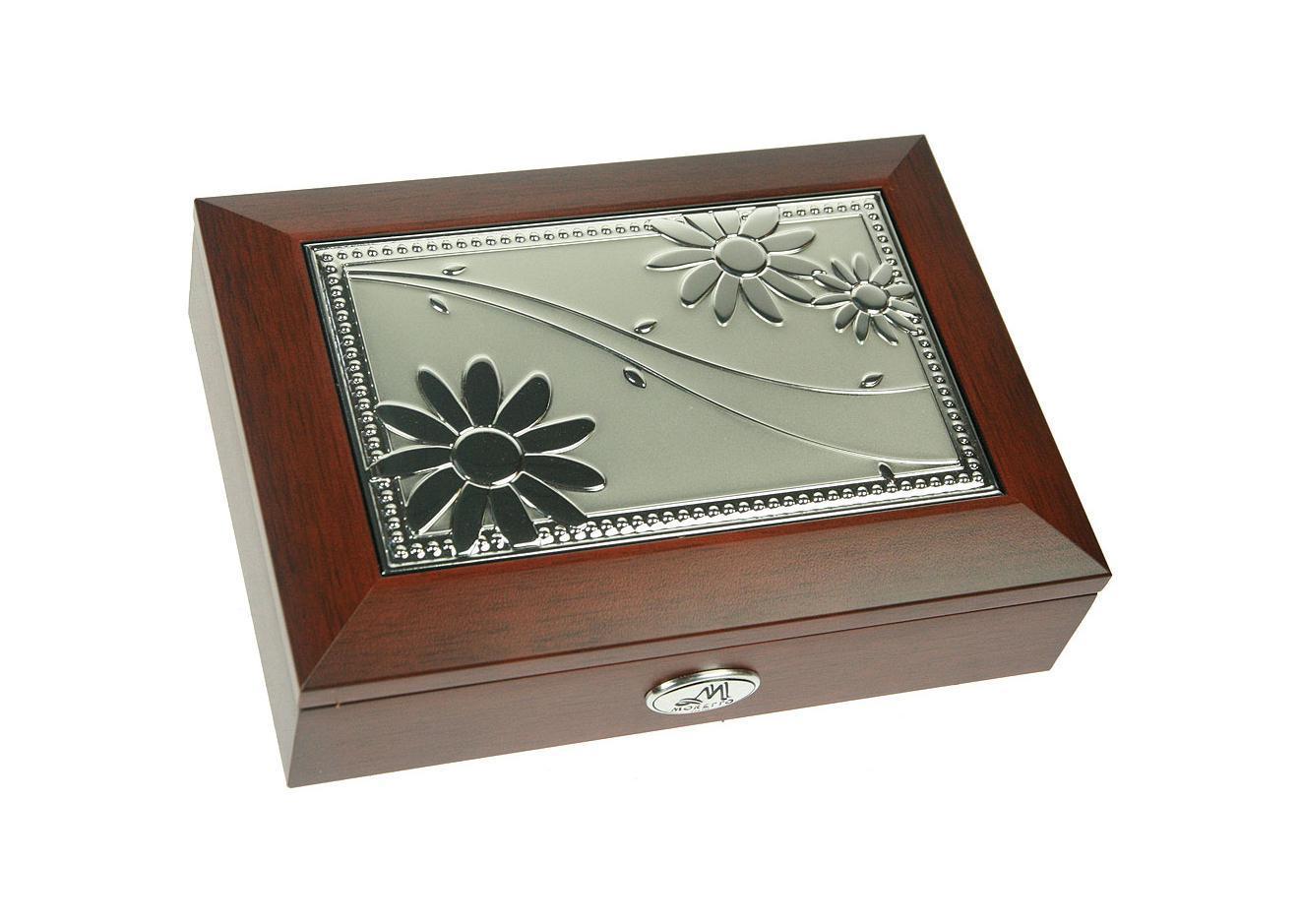 Шкатулка ювелирная Moretto, музыкальная, цвет: коричневый, 18 см х 13 см х 5 см. 139559 шкатулка фоторамка ювелирная moretto 24 х 19 х 5 см 139555