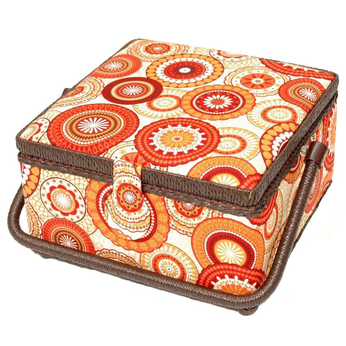 Шкатулка для рукоделия Prym Драгоценность, цвет: оранжевый, бежевый шкатулка для рукоделия bestex цветы 23 х 18 х 12 см
