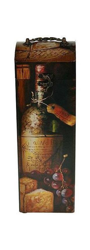 Шкатулка Сундучок под бутылку 11*11*33см34759Шкатулка Русские подарки Сундучок 34759 предназначена для хранения бутылок с вином. Сочетание оригинального дизайна и функциональности делает такую вещь практичным, стильным подарком и предметом гордости ее обладателя. Данная модель надежно закрывается на металлический замок. Она не оставит равнодушным ни одного любителя оригинальных вещей. Материал: MDF, бумага, эл. металла; цвет: коричневый