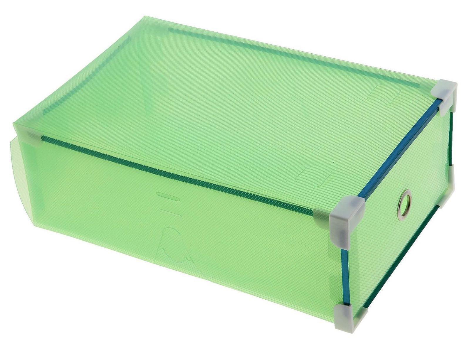 короб для хранения выдвижной 31*19,5*10,5см зеленый 709966