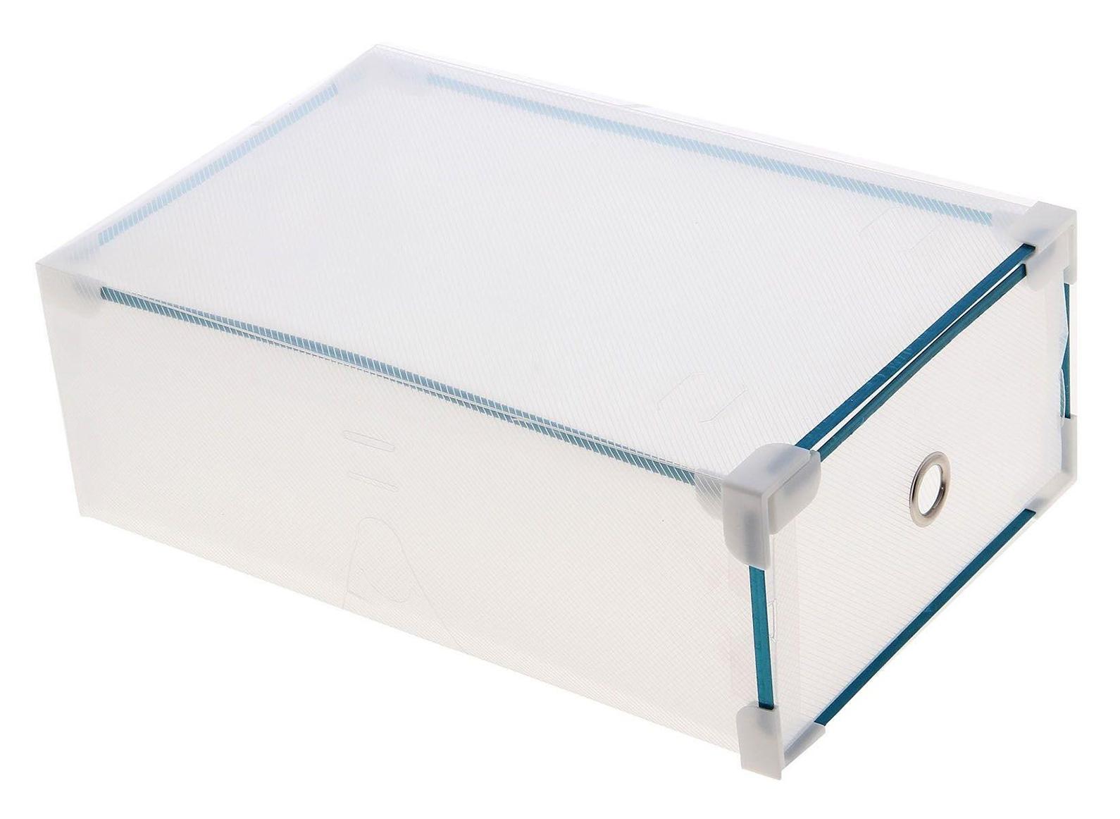 короб для хранения выдвижной 31*19,5*10,5см прозрачный 709967