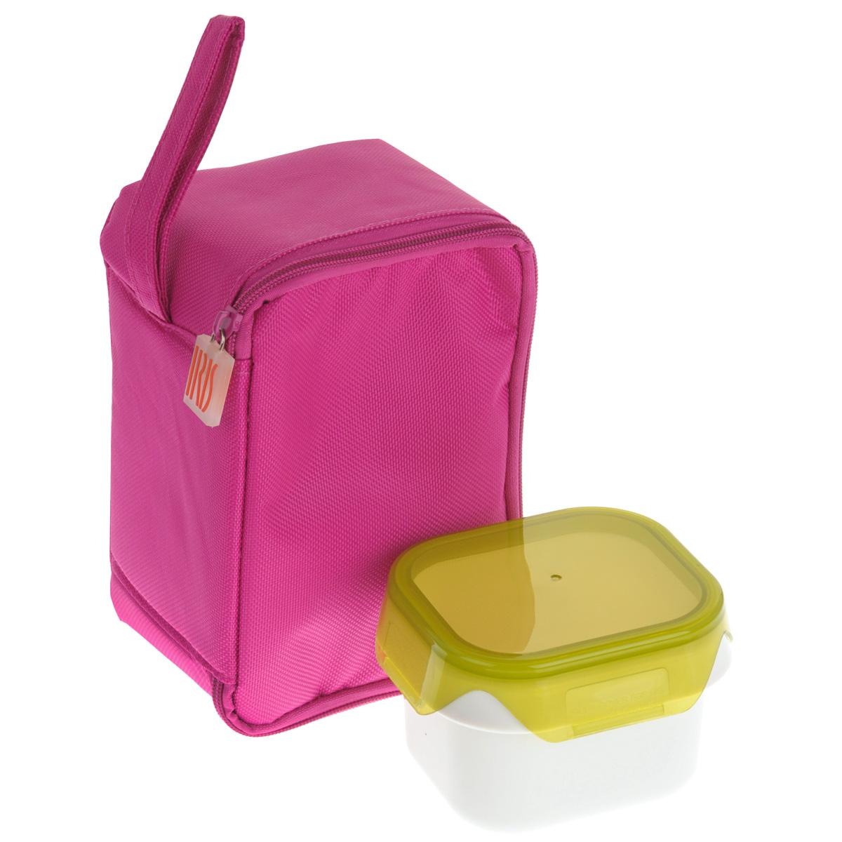 Термоланчбокс Iris Barcelona Baby Lunch, с контейнером, цвет: розовый9696-TИзотермическая сумка-ланчбокс Iris Barcelona Baby Lunch – идеальное решение, чтобы взять с собой обед для вашего ребенка. Ее можно взять с собой куда угодно: на учебу,на прогулку или в путешествие. В течение нескольких часов ланчбокс сохранит еду свежей и вкусной. Есть ручка для переноски в одной руке. В комплект входит 1 герметичный контейнер 0,45 л с прозрачной крышкой. Он подходит для использования в морозильнике, микроволновой печи. Можно мыть в посудомоечной машине. Также в ланчбоксе предусмотрено место для йогурта, крекеров или фруктов. Не содержит Бисфенола А. Объем контейнера: 450 мл.