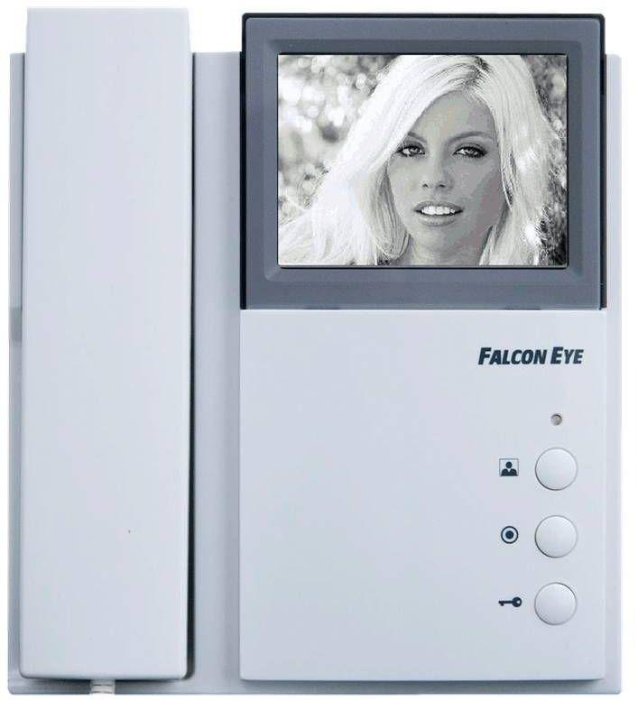 Falcon Eye Энтер комплект видеодомофона (FE-4HP2 + AVP-506 + FE-2369 +АТ-12/30)Комплект ЭнтерКомплект Falcon Eye Энтер, состоящий из видеодомофона FE-4HP2, вызывной панели AVP-506 и замка FE-2369, имеет простой дизайн и удобный интерфейс. К данной модели видеодомофона можно подключать две вызывные панели, а также параллельные мониторы.Внешнее исполнение. Видеодомофон изготовлен из прочного пластика, благодаря чему он может использоваться практически в любых условиях. Дисплей устройства выполнен в черно-белом варианте, при этом изображение видно максимально четко и ясно.Экран. Диагональ черно-белого дисплея составляет четыре дюйма. Этого вполне достаточно, чтобы рассмотреть посетителя. Для хорошего видения в темное время суток видеодомофон оборудован ИК-подсветкой. Она обеспечивает хорошую детализацию и качественное изображение даже ночью.Интерком. Данная модель имеет функцию интеркома, благодаря которой можно параллельно устанавливать несколько видеодомофонов. То есть, если осуществляется вызов, можно ответить или со второго этажа дома, или с кухни.