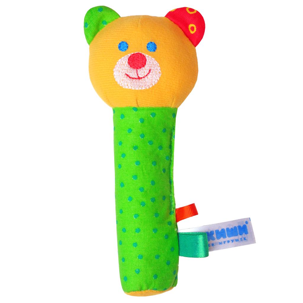 Мягкая игрушка-погремушка Мишка bondibon мягкая игрушка погремушка слоник