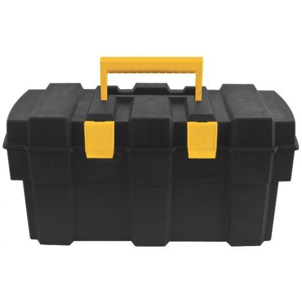 Ящик для инструментов FIT, 1665517Ящик для инструментов FIT изготовлен из прочного пластика и предназначен для хранения и переноски инструментов. Вместительный, имеет съемный лоток, большое отделение и две защелки, не допускающие случайного открывания. Для более комфортного переноса в руках, на крышке ящика предусмотрена удобная ручка. Характеристики: Материал:пластик. Размеры ящика: 43 см х 23 см х 20 см. Глубина ящика: 15 см. Размеры лотка: 41 см х 20 см х 4 см. Размеры упаковки: 43 см х 23 см х 20 см.