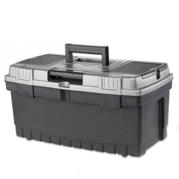 Ящик для инструментов Keter Pro, замок Quick Latch, 2217186821Ящик для инструментов Keter предназначен для хранения и транспортировки инструментов. В нем можно разместить все необходимые для работы предметы, тем самым создав свой индивидуальный набор инструментов и аксессуаров. В нутри расположен съемный лоток. На крышке ящика расположены 2 органайзера для размещения различных мелочей. Высокая вместительность. Новая система замков Quick Latch, обеспечивающая бысрый доступ к содержимому. Характеристики: Материал: полипропилен. Размеры ящика: 56 см х 31 см х 28,5 см. Размеры лотка:55 см х 27 см х 5 см. Размеры органайзера:2 по 18,5 см х 7,5 см х 4,5 см. Глубина ящика:19 см. Размеры упаковки:56 см х 31 см х 28,5 см.УВАЖАЕМЫЕ КЛИЕНТЫ!Обращаем ваше внимание на допустимые незначительные изменения в дизайне товара - некоторые детали могут отличаться по форме (цвету) от товара, изображенного на фотографии.