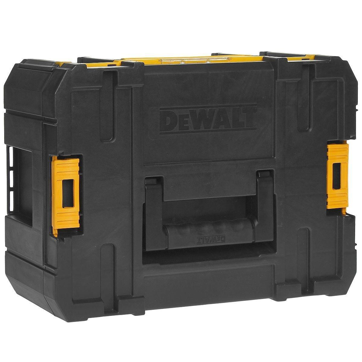 Ящик для инструмента DeWalt TSTAK III, глубокий, с шестью контейнерамиDWST1-70705Направляющие салазки на шариковых подшипниках обеспечивают надежность и долговечность6 извлекаемых чашек для мелких деталей, крепежа и принадлежностей (2 большие и 4 маленькие)Возможность наращивания: все блоки могут быть установлены один сверху другого. Прочные боковые защелки для надежной фиксации.Двухкомпонентная ручка сверху каждого блока гарантирует легкий и удобный подъем и переноскуИнновационный дизайн: прочный и жесткийГибкая платформа Mix&Match, которая позволяет создавать различные комбинации из ящиков