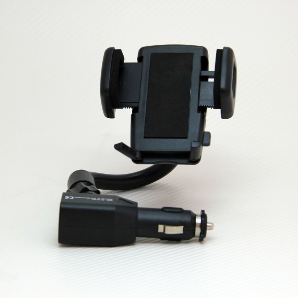 Держатель для мобильных телефонов и смартфонов 100 Mile Mobik107, универсальныйMOBIK107Универсальный держатель 100 Mile Mobik107 предназначен для крепления в автомобиле легких и компактных мобильных устройств. Держатель устанавливается в разъем прикуривателя 12В с помощью специального штекера с USB-адаптером и вращающегося крепления-штанги для достижения оптимального угла обзора. Поворотная шарнирная конструкция держателя позволяет зафиксировать мобильное устройство в любом положении, а также подключать к нему разъемы зарядных устройств и производить зарядку от выхода USB.