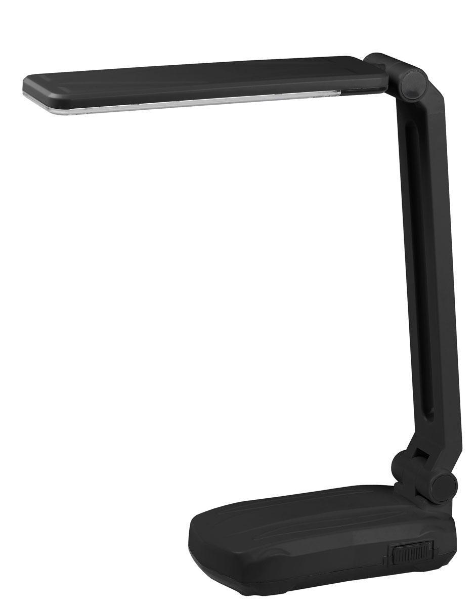 ЭРА наст.светильник NLED-421-3W-BK черный5055398674529Светодиодные лампы ЭРА NLED-421-3W-BK существенно экономичнее люминесцентных, живут значительно дольше, номинальную яркость набирают всегда мгновенно вне зависимости от температуры в помещении. Про сравнение светодиодных ламп с лампами накаливания даже и говорить не приходится. Аккумулятор для автономной работы до 4 часов. Два режима - максимальная яркость и приглушенный свет. Съемный сетевой шнур входит в комплект. Устойчивое основание, выключатель на основании. На основании есть отверстия для подвеса на стену - светильник может быть использован как настенный, не требующий монтажа, его легко подвешивать и снимать. Складная конструкция. Направление света регулируется наклоном стойки и поворотом панели со светодиодами относительно стойки для максимального комфорта.