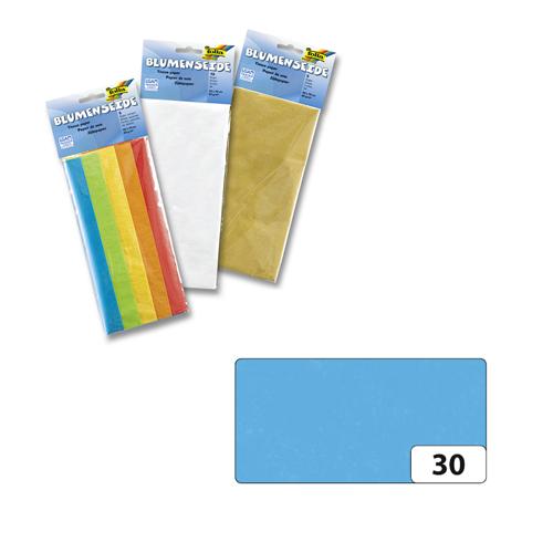 Бумага папиросная Folia, цвет: голубой (30), 50 х 70 см, 5 листов. 7708123_307708123_30Бумага папиросная Folia - это великолепная тонкая и эластичная декоративная бумага. Такая бумага очень хороша для изготовления своими руками цветов и букетов с конфетами, топиариев, декорирования праздничных мероприятий. Также из нее получается шикарная упаковка для подарков. Интересный эффект дает сочетание мягкой полупрозрачной фактуры папиросной бумаги с жатыми и матовыми фактурами: креп-бумагой, тутовой и различными видами картона. Бумага очень тонкая, полупрозрачная - поэтому ее можно оригинально использовать в декоре стекла, светильников и гирлянд. Достаточно большие размеры листа и богатая цветовая палитра дают простор вашей творческой фантазии. Размер листа: 50 см х 70 см.Плотность: 20 г/м2.