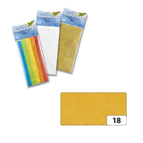 Бумага папиросная Folia, цвет: темно-желтый (18), 50 см х 70 ��м, 5 листов. 7708123_18 бумага папиросная folia 50 см х 70 см 10 листов 7708130