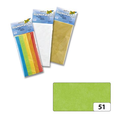 Бумага папиросная Folia, цвет: светло-зеленый (51), 50 см х 70 см, 5 листов. 7708123_517708123_51Бумага папиросная Folia - это великолепная тонкая и эластичная декоративная бумага. Такая бумага очень хороша для изготовления своими руками цветов и букетов с конфетами, топиариев, декорирования праздничных мероприятий. Также из нее получается шикарная упаковка для подарков. Интересный эффект дает сочетание мягкой полупрозрачной фактуры папиросной бумаги с жатыми и матовыми фактурами: креп-бумагой, тутовой и различными видами картона. Бумага очень тонкая, полупрозрачная - поэтому ее можно оригинально использовать в декоре стекла, светильников и гирлянд. Достаточно большие размеры листа и богатая цветовая палитра дают простор вашей творческой фантазии. Размер листа: 50 см х 70 см.Плотность: 20 г/м2.
