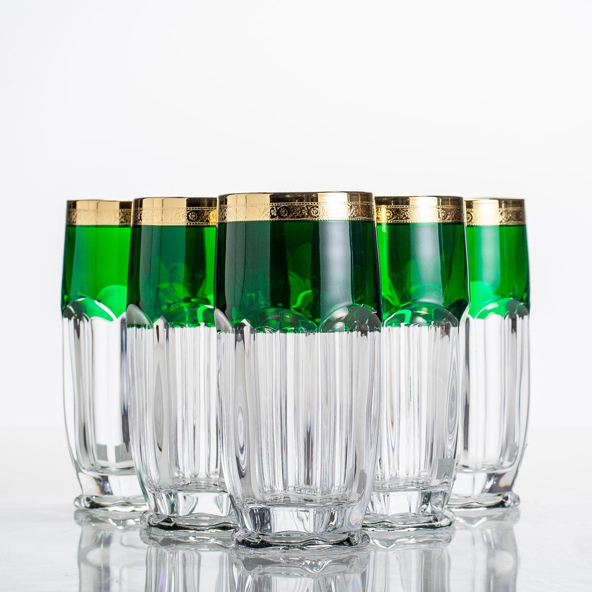 Наб. стаканов вода Сафари 300 млх6шт./432315/ изумруд/золо2KD67K/0/432315/300Наб. стаканов вода Сафари 300 млх6шт./432315/ изумруд/золо Материал: стекло