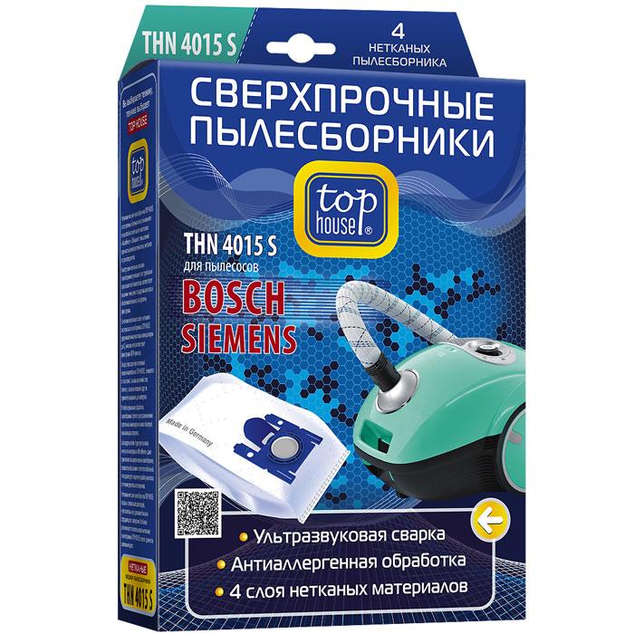 Top House THN 4015 S нетканые пылесборники (4 шт.) мешки пылесборники для пылесосов top house 64911 thn 103l