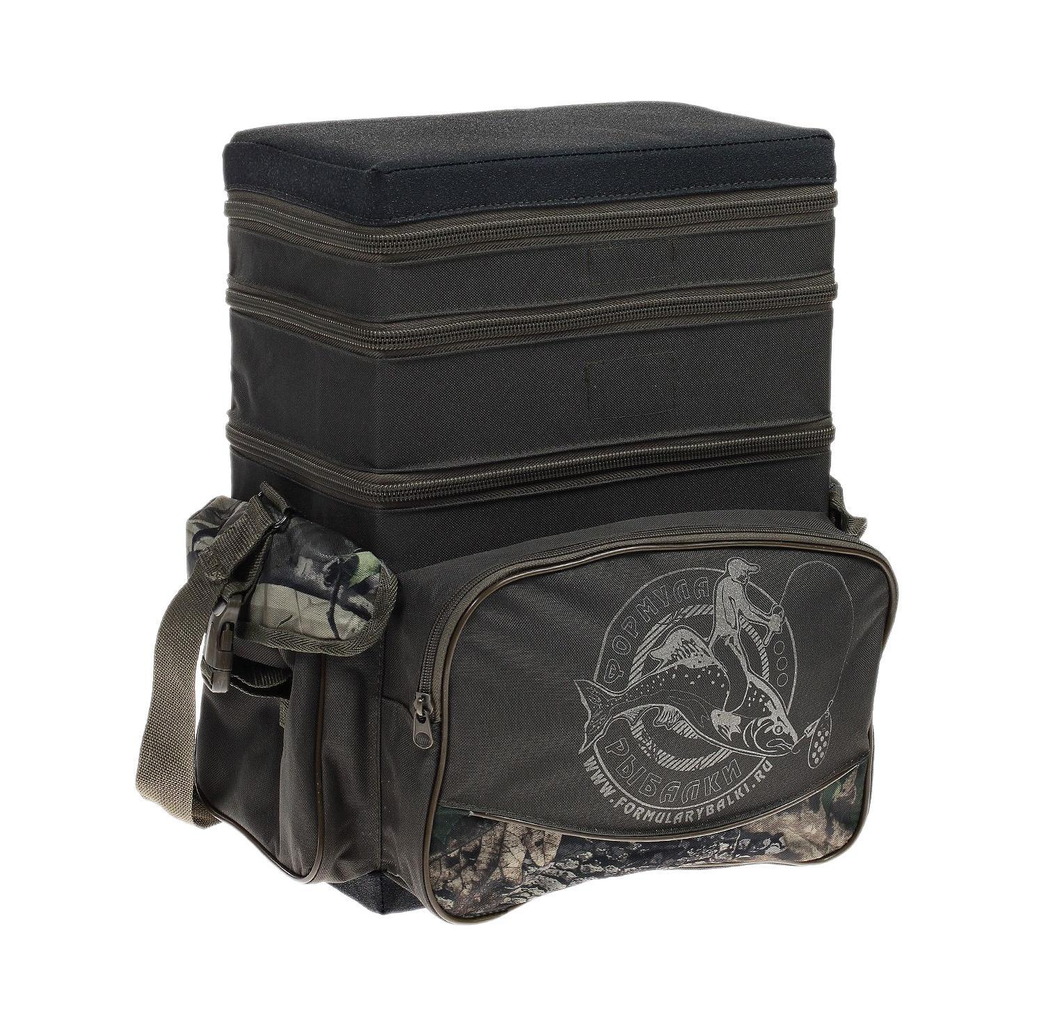 Ящик-рюкзак рыболовный Формула рыбалки, зимний, 3 яруса