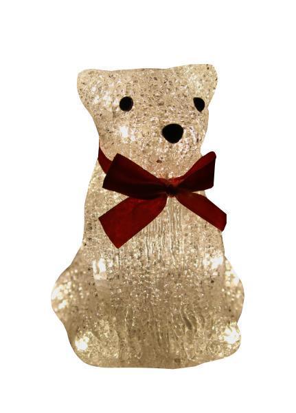Светодиодная фигурка Kosmos Медведь, 15 смKOC_BEAR16LED_WАкриловый мишка 15 см. Питание 3*ААА