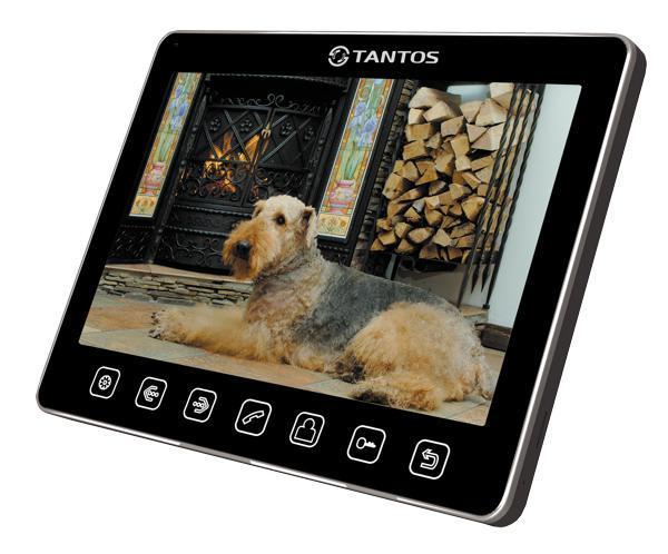 Tantos Tango, Black монитор видеодомофона00-00017050Tantos Tango (black) - монитор видедомофона в белом корпусе с диагональю экрана 9 дюймов. Монитор позволяет одключать до 2-х вызывных панелей и 2-х видеокамер, имеет возможность работы как в индивидуальном, так и в многоквартирном режиме.Габаритные размеры монитора минимизированы и составляют всего 258 x 178 x 19 мм. Монитор укомплектован выносным блоком питания с возможностью установки в стеновую монтажную коробку – подрозетник. В остальном монитор имеет стандартный для большинства мониторов характеристики: связь осуществляется без трубки, возможно подключение до 4 мониторов в одной системе. Монитор совместим с большинством популярных на российском рынке вызывных панелей.