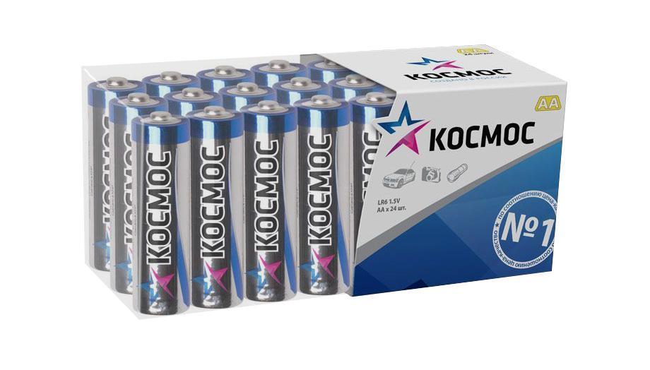 Набор алкалиновых батареек KOSMOS, тип LR6 (АА), 24 штKOCLR6_24BOXАлкалиновые элементы питания KOSMOS специально разработаны для приборов с высоким энергопотреблением. Одна алкалиновая батарейка заменяет до 10 обычных (солевых батареек). Не содержат кадмия и ртути. Батареи отлично подойдут для использования в различных электронных устройствах небольшого размера, например в пультах дистанционного управления, портативных MP3-плеерах, фотоаппаратах, различных беспроводных устройствах. Характеристики:Тип элемента питания: AA (LR6). Тип электролита: щелочной. Выходное напряжение: 1,5 В. Комплектация: 24 шт. Размеры батареек: 5 см x 1,5 см x 1,5 см. Размер упаковки: 4,5 см x 11,5 см x 5 см. Характеристики:Тип элемента питания: AA (LR6). Тип электролита: щелочной. Выходное напряжение: 1,5 В. Комплектация: 24 шт. Размеры батареек: 5 см x 1,5 см x 1,5 см. Размер упаковки: 4,5 см x 11,5 см x 5 см.