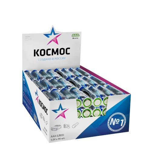 Набор алкалиновых батареек KOSMOS, тип LR03 (ААА), 96 штKOCLR03_96BOXАлкалиновые элементы питания KOSMOS специально разработаны для приборов с высоким энергопотреблением. Одна алкалиновая батарейка заменяет до 10 обычных (солевых батареек). Не содержат кадмия и ртути. Батареи отлично подойдут для использования в различных электронных устройствах небольшого размера, например в пультах дистанционного управления, портативных MP3-плеерах, фотоаппаратах, различных беспроводных устройствах. Характеристики:Тип элемента питания: AAА (LR03). Тип электролита: щелочной. Выходное напряжение: 1,5 В. Комплектация: 96 шт. Размеры батареек: 4,5 см x 1 см x 1 см. Размер упаковки: 14 см x 9,5 см x 5 см. Характеристики:Тип элемента питания: AAА (LR03). Тип электролита: щелочной. Выходное напряжение: 1,5 В. Комплектация: 96 шт. Размеры батареек: 4,5 см x 1 см x 1 см. Размер упаковки: 14 см x 9,5 см x 5 см.