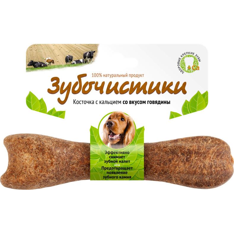 Лакомство Зубочистики для собак средних пород, с говядиной лакомство зубочистики для собак крупных пород с морскими водорослями