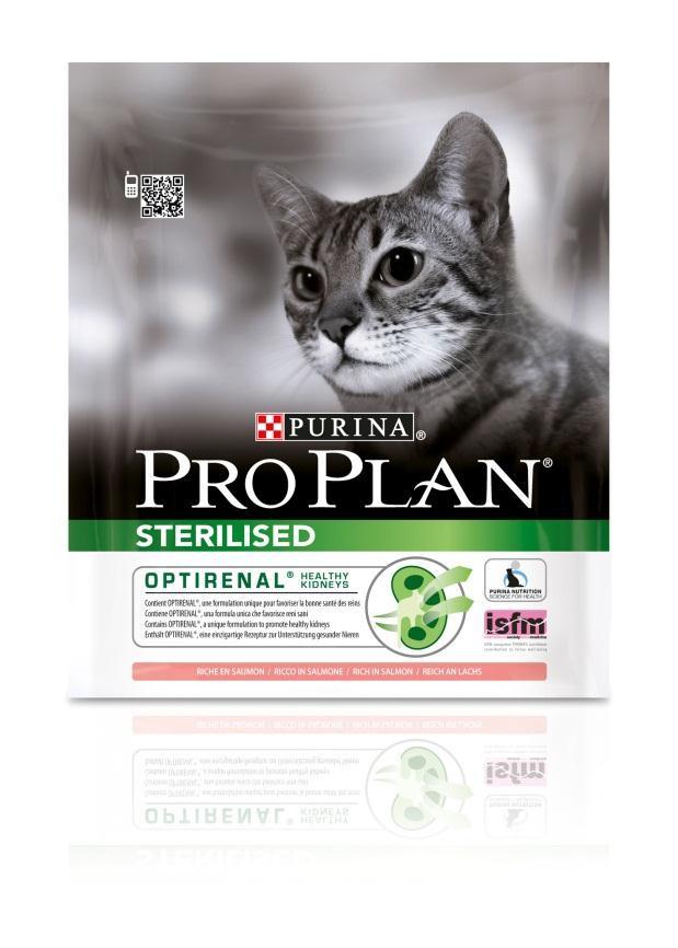 Корм сухой Pro Plan Sterilised для взрослых стерилизованных кошек и кастрированных котов, с лососем, 400 г12171693Сухой корм Pro Plan Sterilised - это полноценный рацион для взрослых стерилизованных кошек и кастрированных котов. Он содержит особую разработанную с участием ученых комбинацию ингредиентов для поддержания здоровья вашего питомца в течение продолжительного времени. Корм с высококачественным белком и низким содержанием жира, сочетающий все необходимые питательные вещества, включая витамины А, С и Е, а также Омега-3 и Омега-6 жирные кислоты. Обеспечивает баланс pH мочи. Особенности сухого корма: поддерживает здоровье мочевыводящей системы стерилизованных кошек и кастрированных котов, предотвращая риск развития заболевания нижнего отдела мочевыводящих путей,помогает защищать зубы от образования налета и зубного камня,помогает поддерживать здоровый вес,содержит уникальную формулу для поддержания здоровья почек.Состав: лосось (20%), сухой белок птицы, кукурузный глютен, рис, кукуруза, концентрат горохового белка, пшеничная клетчатка, яичный порошок, пшеничный глютен, минеральные вещества, животный жир, вкусоароматическая кормовая добавка, дрожжи. Анализ: белок: 41%, жир: 12%, сырая зола: 7%, сырая клетчатка: 4,5%.Добавки на кг: витамин А: 35 000; витамин D3: 1100; витамин Е: 900 мг/кг; железо: 235; йод: 3; медь: 47; марганец: 105; цинк: 397; селен: 0,27 мг/кг.Товар сертифицирован.