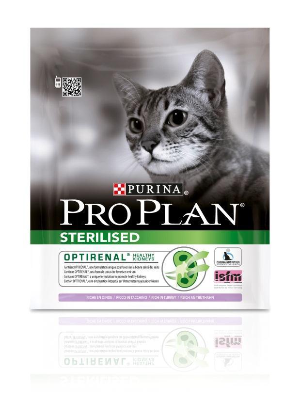 Корм сухой Pro Plan Sterilised для взрослых стерилизованных кошек и кастрированных котов, с индейкой, 400 г12171695Сухой корм Pro Plan Sterilised - это полноценный рацион для взрослых стерилизованных кошек и кастрированных котов. Он содержит особую разработанную с участием ученых комбинацию ингредиентов для поддержания здоровья вашего питомца в течение продолжительного времени. Корм с высококачественным белком и низким содержанием жира, сочетающий все необходимые питательные вещества, включая витамины А, С и Е, а также Омега-3 и Омега-6 жирные кислоты. Обеспечивает баланс pH мочи. Особенности сухого корма: поддерживает здоровье мочевыводящей системы стерилизованных кошек и кастрированных котов, предотвращая риск развития заболевания нижнего отдела мочевыводящих путей,помогает защищать зубы от образования налета и зубного камня,помогает поддерживать здоровый вес,содержит уникальную формулу для поддержания здоровья почек.Состав: индейка (20%), кукурузный глютен, рис, сухой белок птицы, кукуруза, концентрат горохового белка, пшеничный глютен, пшеничная клетчатка, яичный порошок, минеральные вещества, животный жир, рыбий жир, вкусоароматическая кормовая добавка, дрожжи. Анализ: белок: 41%, жир: 12%, сырая зола: 7%, сырая клетчатка: 4,5%.Добавки на кг: витамин А: 35 000; витамин D3: 1100; витамин Е: 900 мг/кг; железо: 60; йод: 1,9; медь: 12; марганец: 15; цинк: 145; селен: 0,12 мг/кг.Товар сертифицирован.