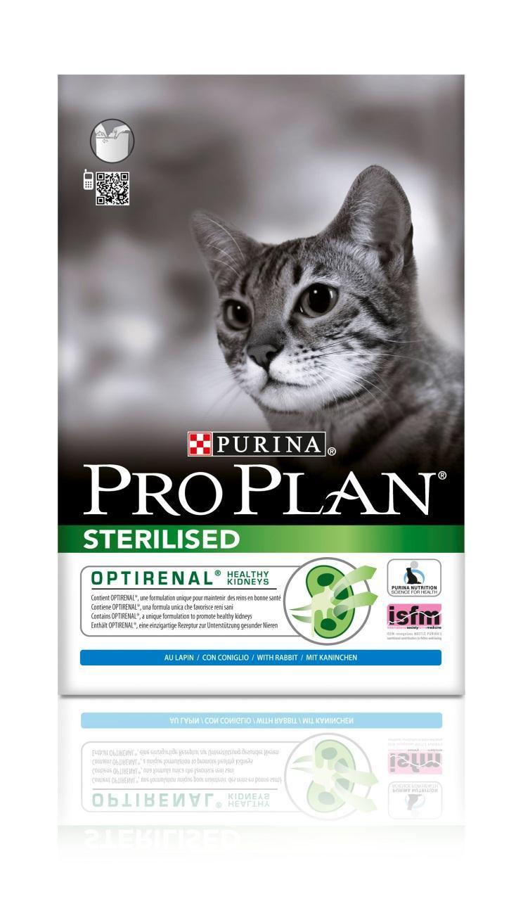 Корм сухой Pro Plan Sterilised для кастрированных котов и стерилизованных кошек, с кроликом, 10 кг сухой корм pro plan optiweight light sterilised adult all size с курицей для склонных к избыточному весу стерилизованных собак 14кг 12272558