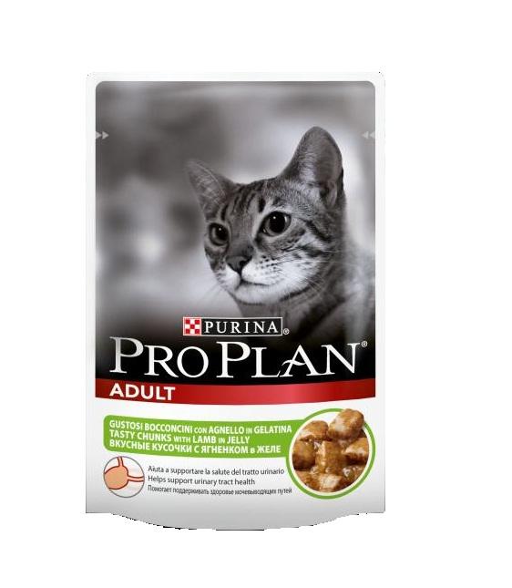 Консервы Pro Plan Adult для взрослых кошек, с ягненком, 85 г12189509Консервы полнорационные Pro Plan Adult со вкусом, который нравится кошкам, содержит все питательные вещества, включая витамины и минеральные вещества, необходимые для полнорационного питания кошек.Состав: мясо и мясные субпродукты (в том числе ягненок 4%), рыба и рыбные субпродукты, минеральные вещества, различные сахара.Добавленные вещества (МЕ/кг): витамин А 1035, витамин D3 145, мг/кг: железо 30, йод 0,58, медь 3,7, марганец 5,3, цинк 73, селен 0,049.Гарантированные показатели: влажность 83, белок 8,5, жир 4,2, сырая зола 2,3, сырая клетчатка 0,4.Товар сертифицирован.