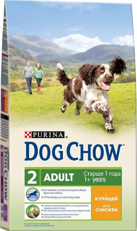 Корм сухой Dog Chow для взрослых собак, с курицей, 14 кг фурминатор для собак короткошерстных пород furminator short hair large dog