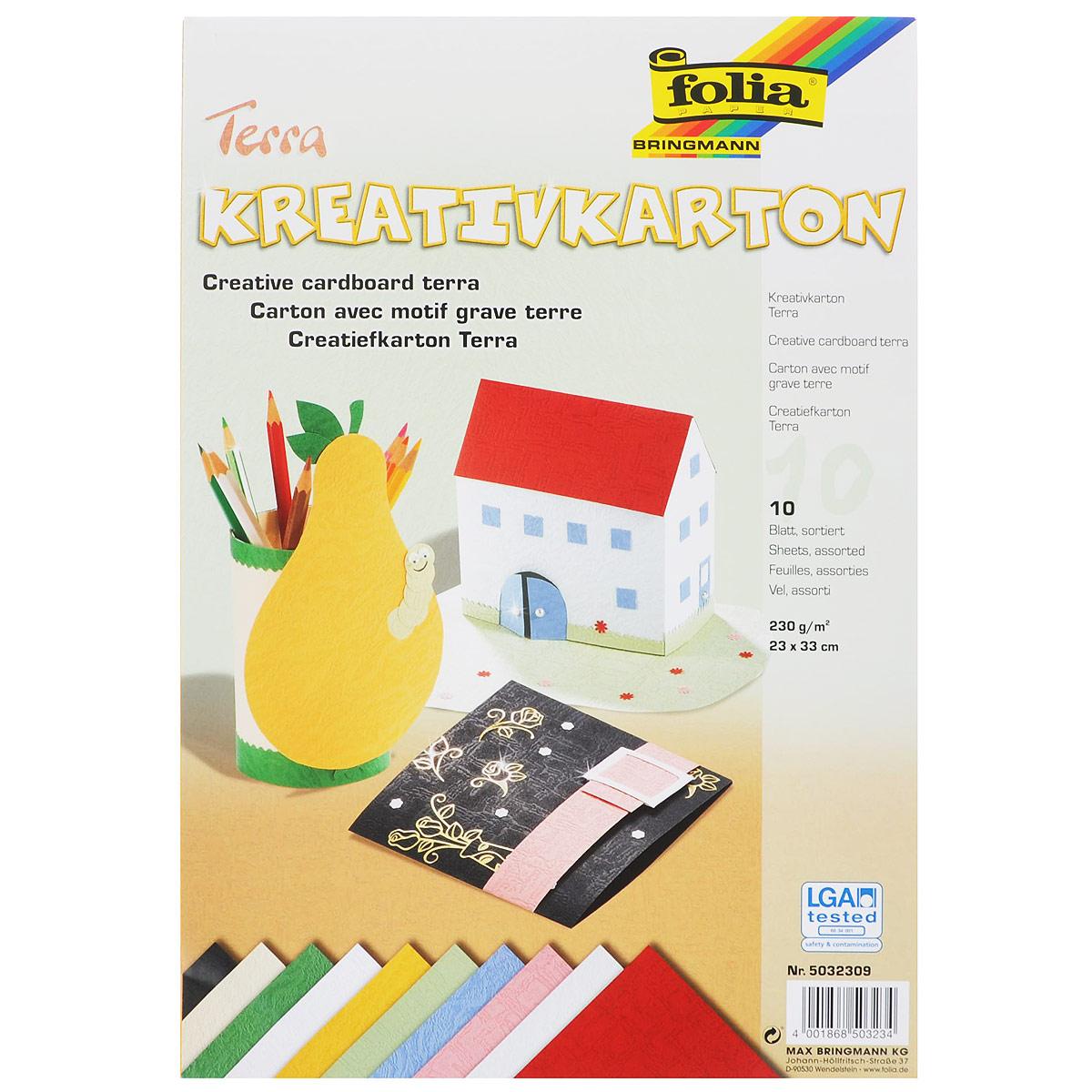 Картон текстурированный Folia Terra, 23 x 33 см, 10 листов аксессуар marsmd goliath 3 кгц 7 5 кгц для x terra катушка