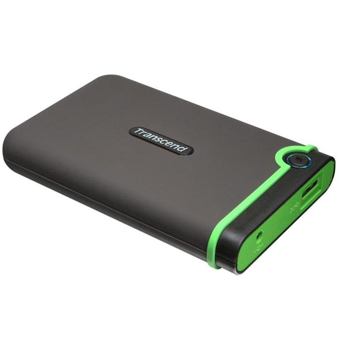 Transcend StoreJet 25M3 500GB внешний жесткий диск (TS500GSJ25M3)TS500GSJ25M3Портативное устройство Transcend StoreJet 25M3 сочетает в себе преимущества награжденной ударопрочной серии внешних жестких дисков StoreJet М компании Transcend и новейшей технологии сверхскоростной передачи информации SuperSpeed USB 3.0, что обеспечит максимальную скорость передачи данных и необычайную ударопрочность устройства для пользователя. Кроме всех вышеперечисленных достоинств, StoreJet 25M3 оснащен кнопкой мгновенного резервного копирования. Теперь вы можете выполнить моментальное резервное копирование, синхронизацию и копирование больших файлов без потери вашего времени.Произведен с применением технологии высокоскоростного USB 3.0 и совместим с USB 2.0 с обратной стороны устройства Износостойкий ударопоглощающий внешний резиновый кейс Улучшения система внутреннее защитной подвески жесткого диска Простота в работе в режиме Plug and Play , без необходимости драйверов Питание от USB - нет необходимости во внешнем адапторе Энергосберегающий спящий режим Автоматическое резервное копирование в одно нажатие Цветной LED индикатор (режим работы, передачи данных, тип подсоединения USB 2.0/3.0) В комплект входит ПО поддержки StoreJet Elite backup Объем кэша: 8 МБ Системные требования: Windows XP/Vista/Windows 7, Mac OS X 10.4, Linux Kernel 2.6.31