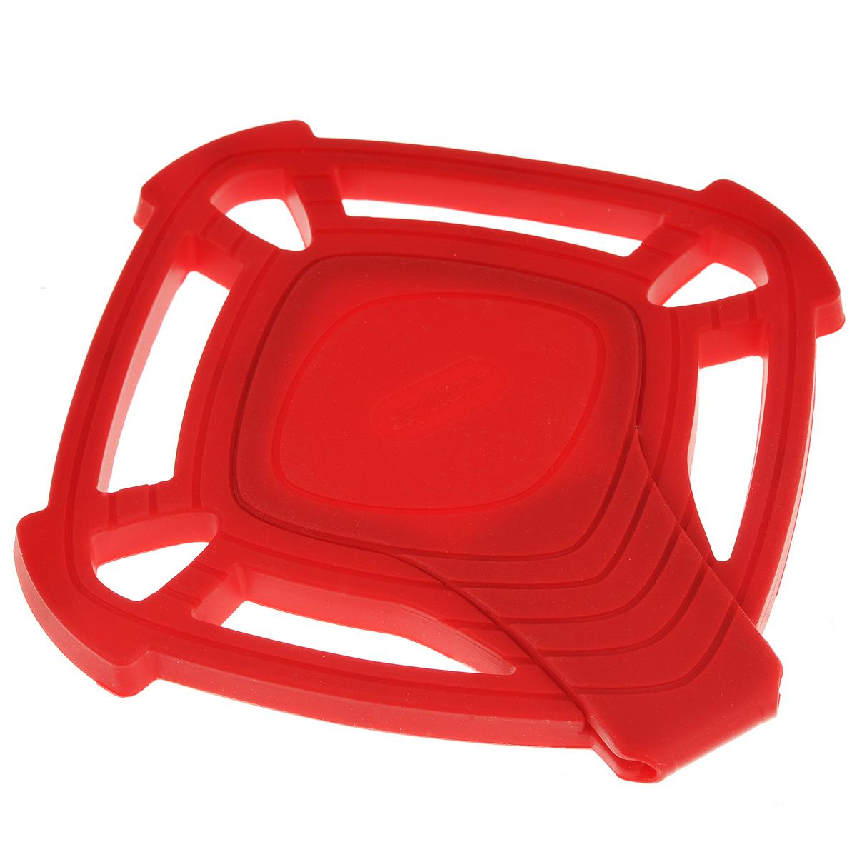 Подставка под горячее Zyliss, цвет: красный, 14,5 см х 14,5 смE990018Подставка под горячее Zyliss изготовлена из качественного и очень прочного силикона, позволяет выдерживать температуру до 240°С. Термостойкая подставка предназначена для кастрюль, горячих сковородок и тарелок, позволит вам сохранить покрытие ваших столов. Материал не скользит по поверхности стола. Подставка обладает уникальным свойством: средняя секция раскладывается, превращаясь в удобную подставку для половника. Подставка безопасна при контакте с тефлоновой поверхностью. Подставка под горячее Zyliss незаменимый и очень полезный аксессуар на каждой кухне. Можно мыть в посудомоечной машине. Размер подставки: 14,5 см х 14,5 см.Длина подставки для половника: 14,5 см.