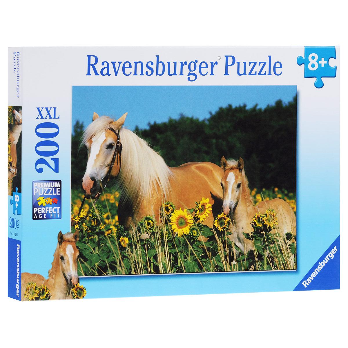 Ravensburger Лошади в подсолнухах. Пазл XXL, 200 элементов