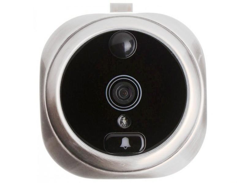 Falcon Eye FE-VE02, Silver видеоглазокFE-VE02Видеоглазок Falcon Eye FE-VE02 состоит изцифровой камеры, совмещенной со звонком и панелис ЖК экраном, которая крепится с внутренней стороны двери. Детектор движения и ИК подсветка позволяют вести запись происходящего даже в ночное время. Это позволяет хозяину знать, кто подходил к двери, совершал звонки в дверь даже в его отсутствие.