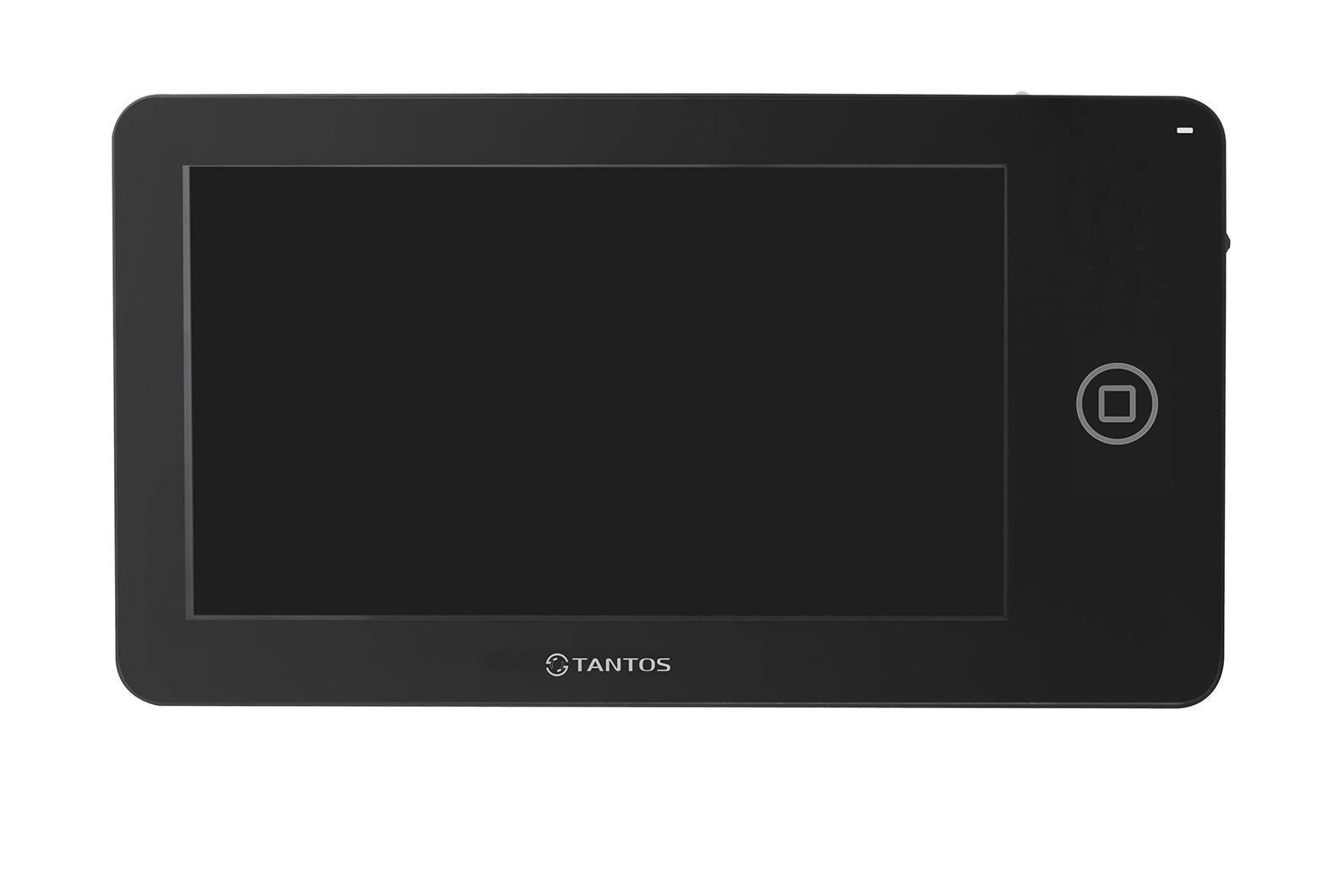 Tantos NEO, Black монитор домофона00-00014349Классический вариант монитора 7 дюймов. Ничего лишнего, идеальный вариант дляофиса или квартиры с пожилыми людьми. Видеодомофон позволяет осуществлять внутреннюю видеосвязь между абонентами жилого помещения. Предназначен для возможности дистанционного наблюдения пространства перед входной дверью и организации двухсторонней аудио связи с посетителем. К монитору подключаются все самые распространенные вызывные панели отечественных и зарубежных производителей. Соединение с панелями 4-х проводное. Так же возможно подключение дополнительного оборудования: видеокамеры, вызывные панели или мониторы.