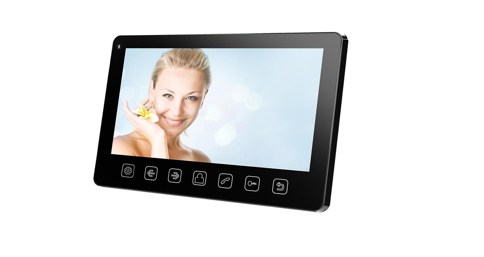 Tantos Amelie Slim, Black монитор видеодомофона00-00016196Монитор видеодомофона Tantos Amelie Slim. Дизайн монитора 7 дюймов прост и изящен, все управление осуществляется механическими кнопками. Возможность подключения 2-х вызывных панелей и 2-х видеокамер. Подключение до 4-м мониторов в одной системе с широкими возможностями адресного интеркома. Возможность работы как в индивидуальном, так и в многоквартирном режиме. Совместимость с большинством моделей отечественных вызывных панелей. Толщина корпуса 17 мм, выносной адаптер питания с возможностью установки в стеновую монтажную коробку (подрозетник) Д60мм.