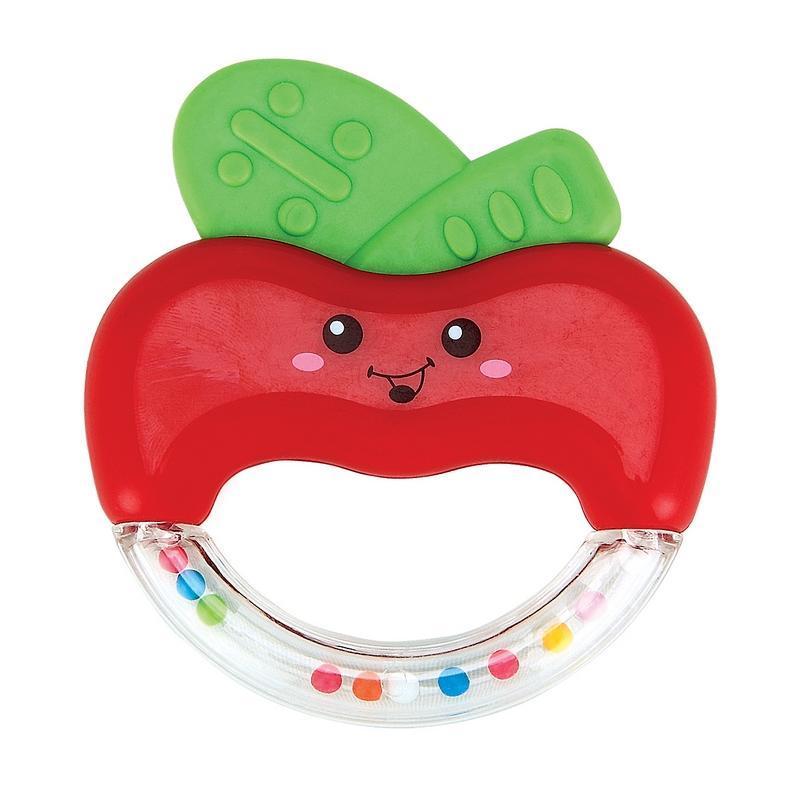 Погремушка-прорезыватель Happy Baby Яблочко, цвет: красный happy baby прорезыватель мишка от 6 месяцев цвет желтый