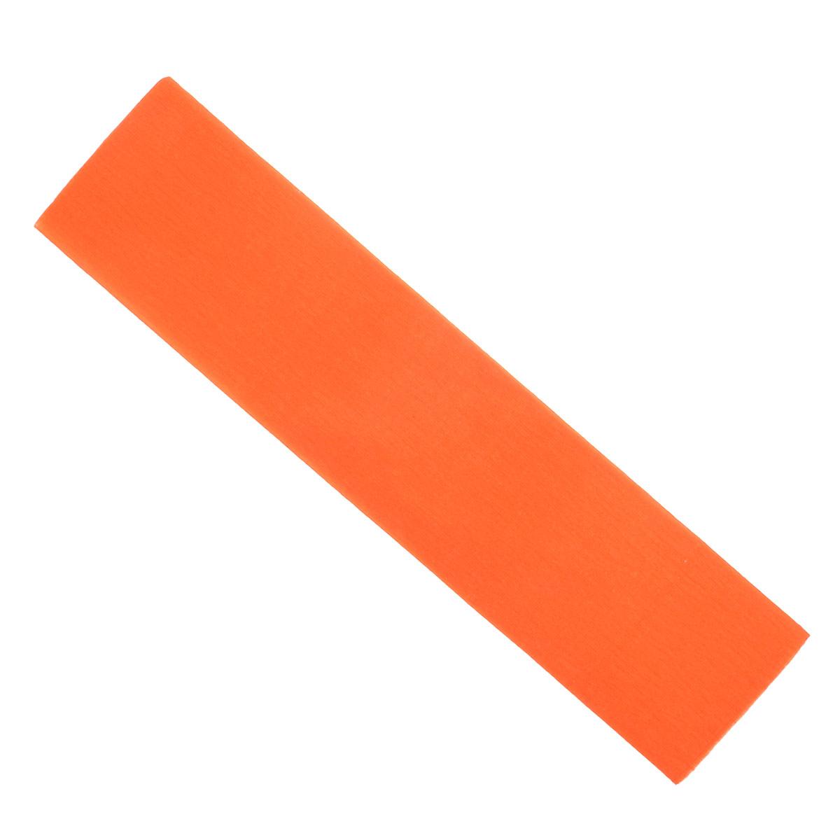 Крепированная бумага Hatber, флюоресцентная, цвет: оранжевый, 5 см х 25 см sadipal бумаги флюоресцентная 5 цветов 5 листов 15429