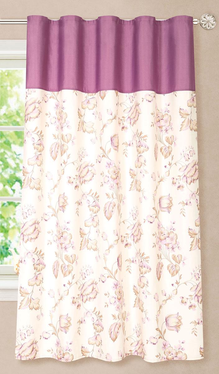 Штора готовая для кухни Garden, на ленте, цвет: фиолетовый, размер 180 см. С8172-W1687-W1687V4С8172-W1687-W1687V4Элегантная портьерная штора Garden выполнена из ткани репс (полиэстер). Плотная ткань, приятная цветовая гамма, цветочный принт привлекут к себе внимание и органично впишутся в интерьер помещения.Эта штора будет долгое время радовать вас и вашу семью!Штора крепится на карниз при помощи ленты, которая поможет красиво и равномерно задрапировать верх.