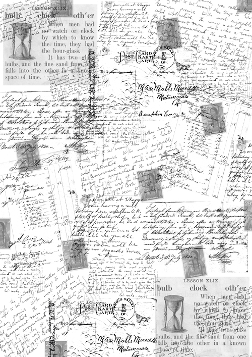 """Калька для скрапбукинга """"Почтовые открытки"""", 21 см х 30 см, Кустарь"""
