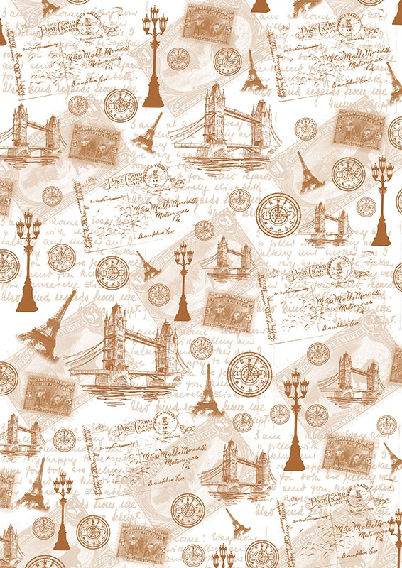 """Калька для скрапбукинга """"Путешествие по Англии и Франции"""" - прозрачная бумага с декоративным принтом. Калька идеально подходит для скрапбукинга. С помощью кальки можно не только украшать сами фотографии, но также, используя пергамент для скрапбукинга, придать оригинальный вид всему альбому. Такие декорированные листы вставляются для украшения между страничками в фотоальбомы. Особенно эффектно выглядит свадебный альбом,   украшенный таким образом. C помощью кальки делаются различные декоративные элементы для поздравительных открыток и коллажей. Декоративные орнаменты, фигурки или кармашки станут украшением любой открытки или альбома для фотографий.    Плотность: 110 г/м2."""