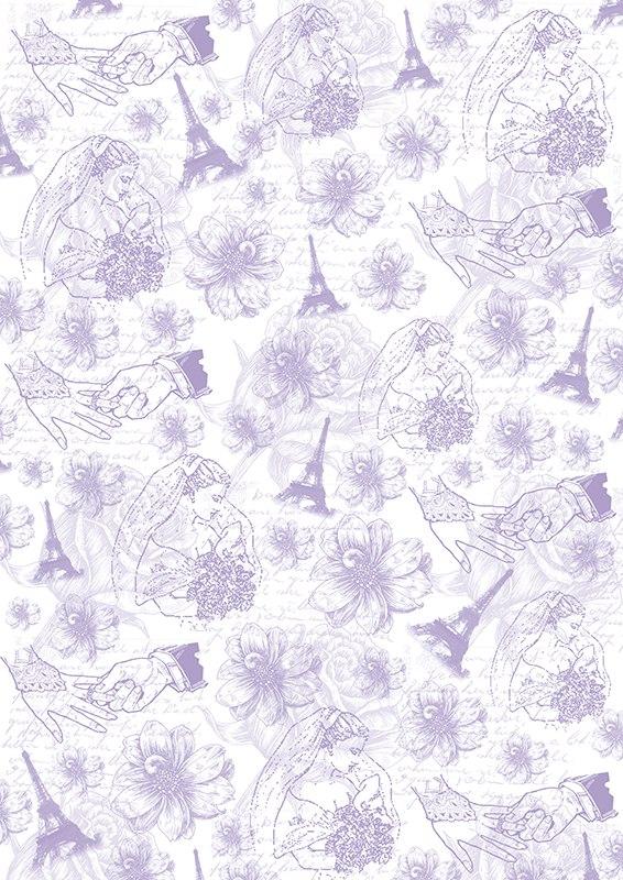 """Калька для скрапбукинга """"Свадебные мотивы"""" - прозрачная бумага с декоративным принтом. Калька идеально подходит для скрапбукинга. С помощью кальки можно не только украшать сами фотографии, но также,   используя пергамент для скрапбукинга, придать оригинальный вид всему альбому. Такие декорированные листы вставляются для украшения между страничками в фотоальбомы. Особенно эффектно выглядит свадебный альбом,   украшенный таким образом. C помощью кальки делаются различные декоративные элементы для поздравительных открыток и коллажей. Декоративные орнаменты, фигурки или кармашки станут украшением любой открытки или альбома   для фотографий. Плотность: 110 г/м2."""