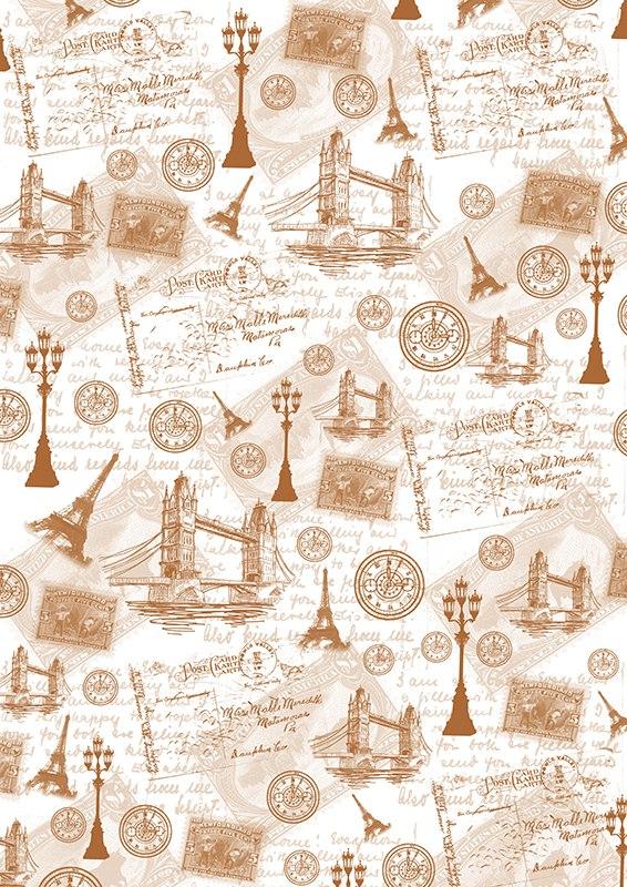 Пленка-оверлей для скрапбукинга Путешествие по Англии и Франции, 21 х 30 см