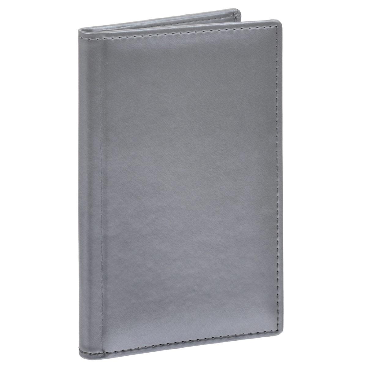 Визитница Berlingo Caprice Thermo, на 96 визиток, цвет: серебристый. 48Вз5_0352648Вз5_03526Вместительная визитница Berlingo Caprice Thermo изготовлена из искусственной кожи. Лицевая сторона оформлена тиснением в виде бренда. Внутри содержится съемный блок с кармашками из прозрачного мягкого пластика, рассчитанный на 96 визиток, а также боковой вместительный карман. Изделие упаковано в подарочную картонную упаковку.Стильная визитница подчеркнет вашу индивидуальность и изысканный вкус, а также станет замечательным подарком человеку, ценящему качественные и практичные вещи.