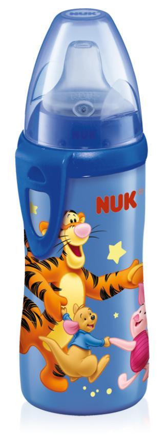 Бутылочка-поильник NUK Active Cup Дисней, в ассортименте, с силиконовым носиком, 300 мл, от 12 месяцев