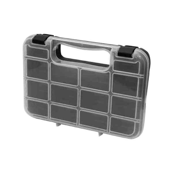 Ящик для крепежа FIT, 24,5 х 18 х 4,5 см65643Ящик FIT 65643 удобное и необходимое приспособление для хранения различного инструмента, крепежа и расходных материалов. Также, ящик FIT 65643 изготовлен из ударопрочного пластика и оснащен удобной рукояткой для переноски.